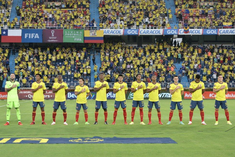 Colombia vs Chile: Imágenes: Colombia se tomó confianza ante Chile con el aliento del 'Metro'