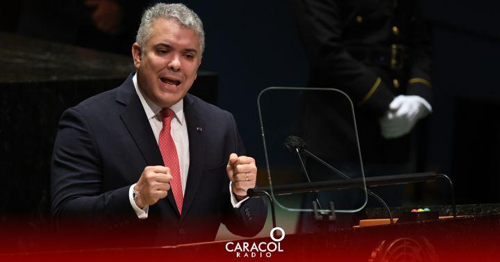 """Duque habló de """"un fragil proceso de paz"""" ante la ONU - Caracol Radio"""