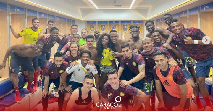 La invitada de lujo con la que Colombia celebró el empate ante Brasil