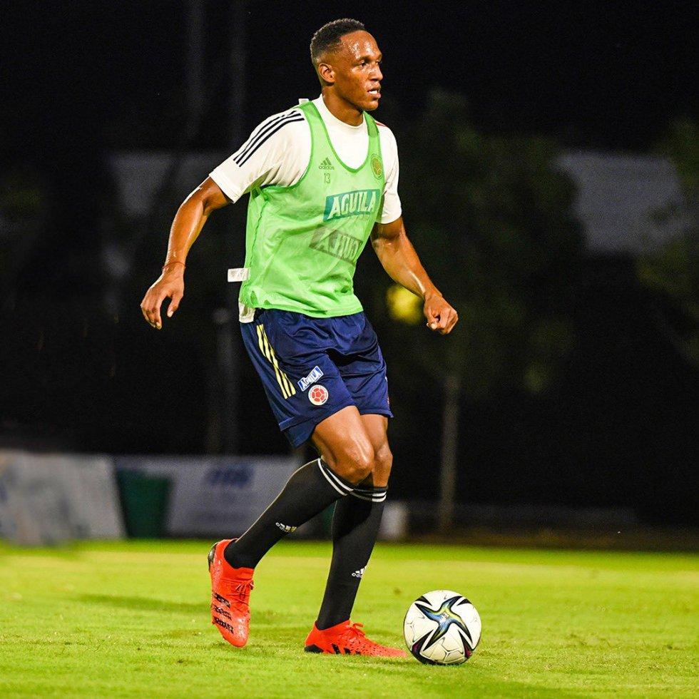 Yerry Mina, defensa de la Selección Colombia.